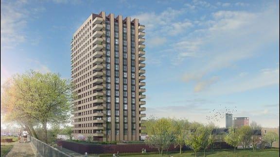 Uniek project: 700 kozijnen plaatsen op 60 meter hoogte in Tilburg